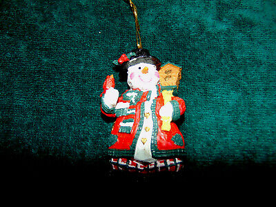 Snowman Christmas Ornament Birdhouse/Cardinal Country Decor Rustic #D