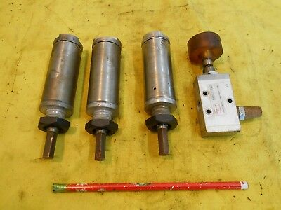 3 Pc Lot Of Air Cylinders Control Valve Pneumatic American 1250snhs-1.00