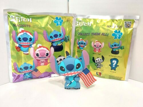 Lilo & and 4th of July Flag Stitch Disney Blind Mystery Bag Magnet Series 3