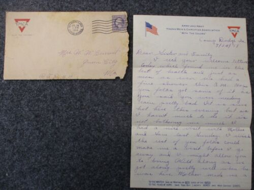 WWI Letter Sent by SGT Oscar Current to his Family in Queen City, Missouri #5