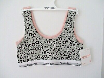 Calvin Klein girls 2 pack modern cotton bralette size L 10/12