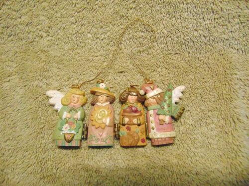 """4 Hinged Angel Christmas Tree Ornament 2.5""""  #B"""