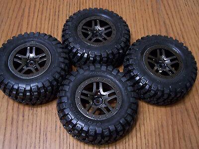 4 Traxxas 1/10 Ultimate Slash 4x4 BF Goodrich S1 Tires 12mm Black Chrome Wheels