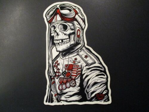 "ZOLTRON Art Sticker BIG 9.25"" PILOT foo fighters like art from poster print"