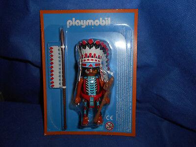 Playmobil Indianer Häuptling Friedenspfeife Kopfschmuck Speer neu im Blister
