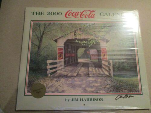 2000 Coca-Cola Calendar Autographed by Jim Harrison (new)