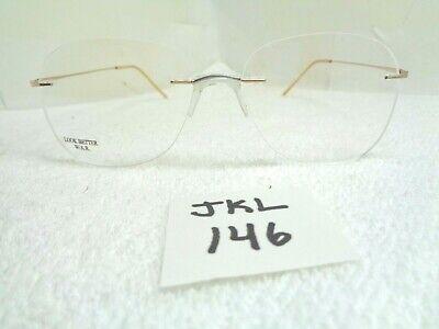 New LOOK BETTER Eyeglasses Art-lites 26 EM Rimless Butterscotch Italy (JKL-146) (Best Rimless Eyeglasses)