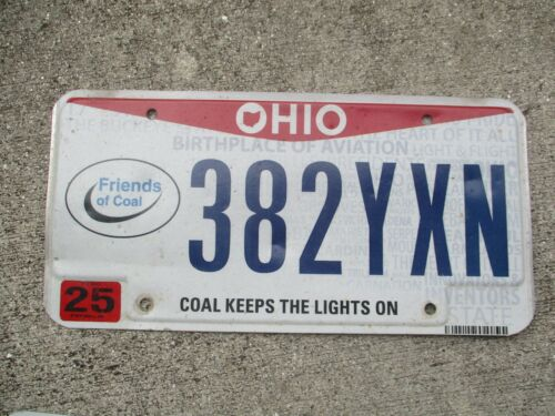 Ohio Friends of Coal  license plate  #   382 YXN