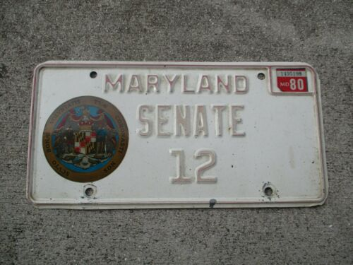 Maryland 1980 license plate   #    12