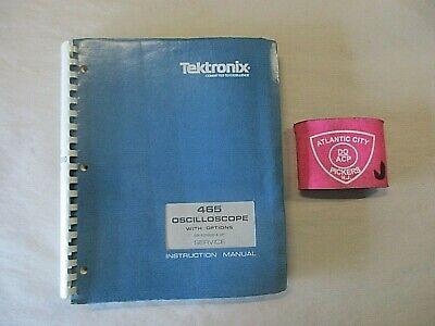 Tektronix 465 Oscilloscope With Options Service Instruction Manual