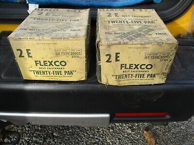 Flexco Hd - 2e New In Opened Lot Of Two Boxes