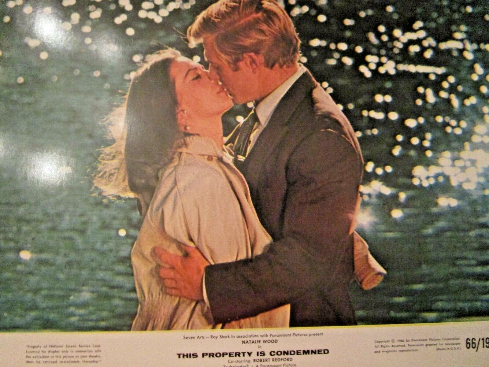 1966 FAB NATALIE WOOD ROBERT REDFORD THIS PROPERTY IS CONDEMNED WINDOW CARD 3 - $23.73