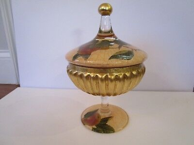 Compote with Cover - Lesley Roy - Fruit Orchard Collection = Urn