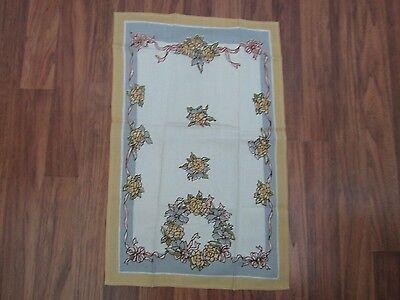 Shabby Floral Rose Ribbon Bow Design Chic Tea Towel Dresser Scarf