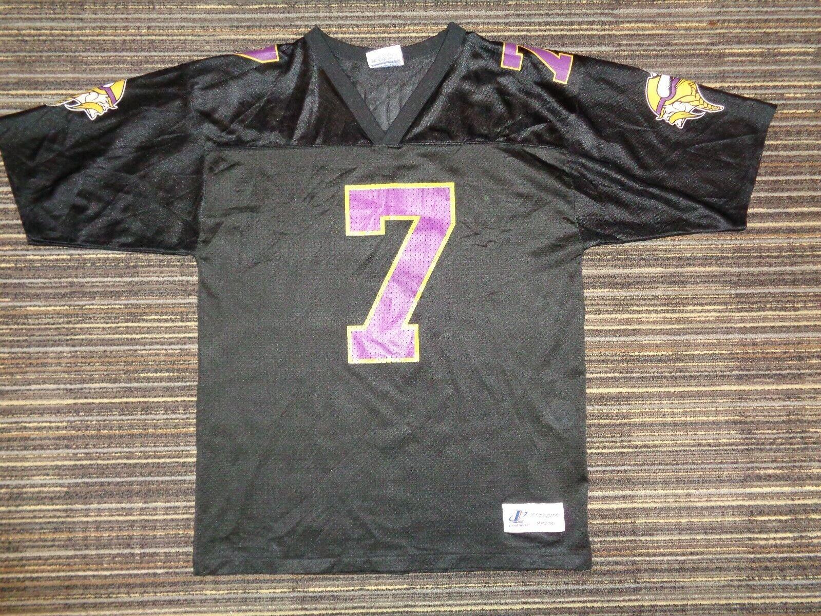 RANDALL CUNNINGHAM 7 MINNESOTA VIKINGS PUMA BLACK NFL GAME FOOTBALL JERSEY SZ M - $49.99