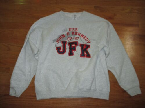Vintage USS KENNEDY CV-67 Aircraft Carrier Embroidered (LARGE) Sweatshirt