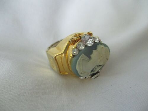 Digits Gold Toned Ring Watch
