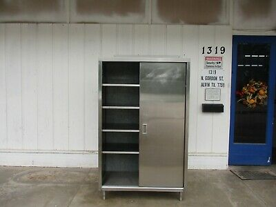 Stainless Steel Storage Cabinet With Sliding Door. 4610