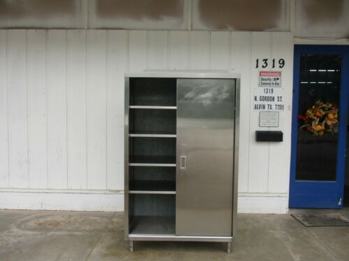 Stainless Steel Storage Cabinet, with Sliding Door. #4610