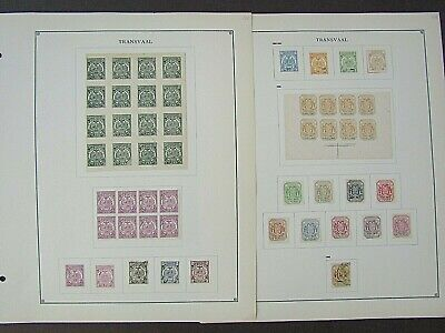 TRANSVAAL - FINE COLLECTION OF EARLY FOURNIER FORGERIES - ON ORIGINAL PAGES