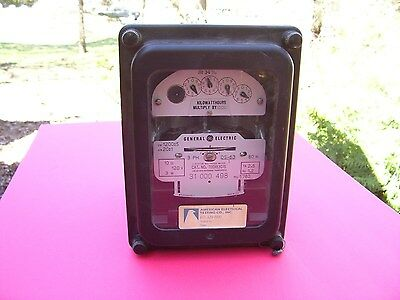 Rare Find Antique Vintage General Electric Polyphase Electric Watthour Meter