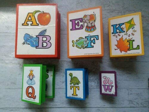 VINTAGE 1987 TUPPERWARE TUPPERTOYS ALPHABET ABC