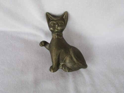 Vintage Silver plate Cat Coin Bank W/ Rubber Stoper Plug!!!