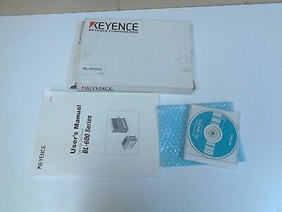 Keyence Bl-h60we Manual And Software For Barcode Reader - Nos - Free Shipping