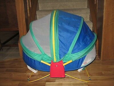 Fisher Price Bounce N Play Activity Dome Enclosed Portable Outdoor Bassinet