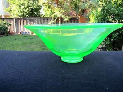 Green Paden City Party Line Vaseline Green Uranium Hat Bowl 4
