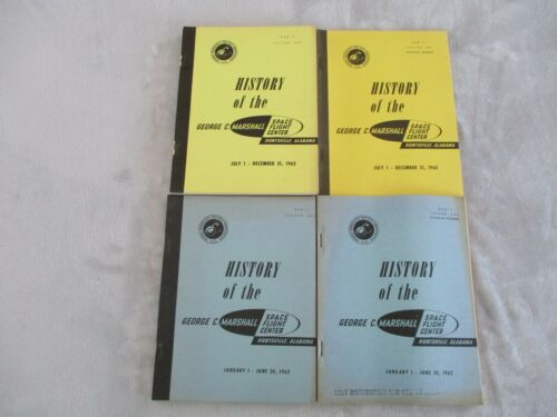 1962 (4) NASA MHM-5&6 VOL ONE&TWO HISTORY GEORGE C MARSHALL SPACE FLIGHT CENTER