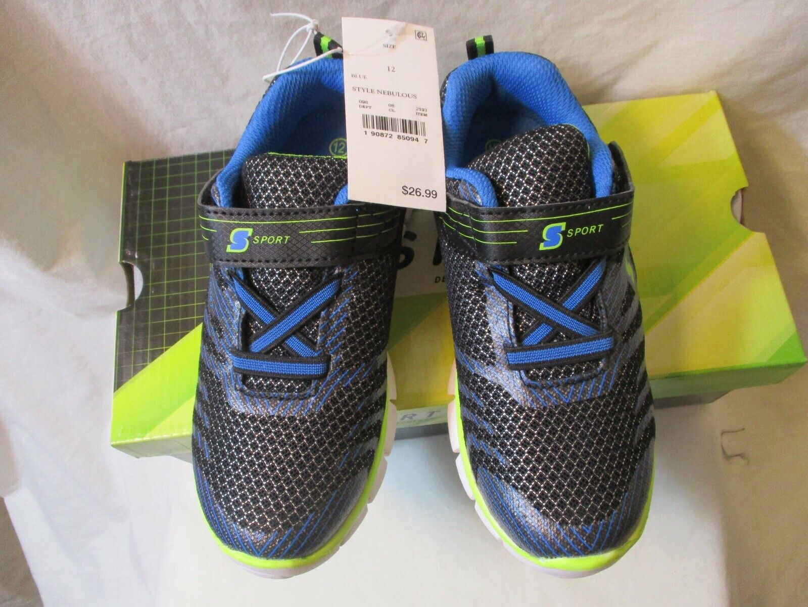 NWT S Sport by Skechers Nebulous Toddler Boys Athletic Shoes