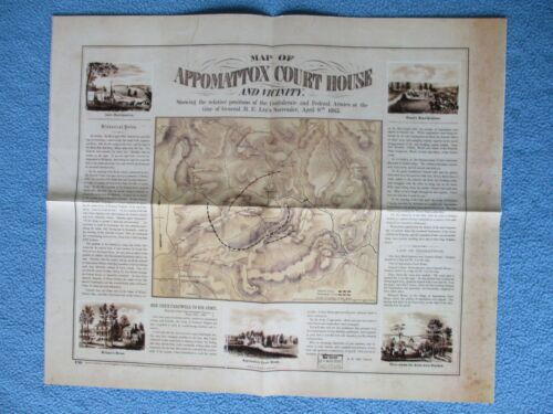 # Civil War Map - Appomattox Court House & Vicinity, Positions of Both Armies +
