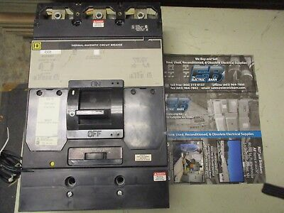 Square D Mal364508041 450a 600v Grey Breaker -testedtest Reportwarranty