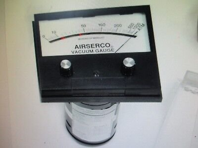 Airserco Analog High Vacuum Gauge 9044-sm 0-1000 Microns Removed Working