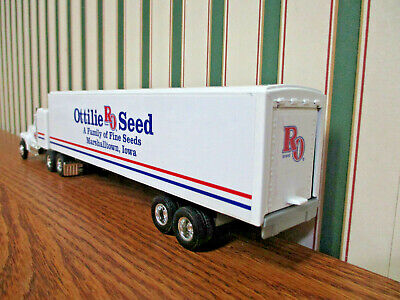 Ottilie Seed Ford Semi With Van Trailer By Ertl 1/64th Scale 3
