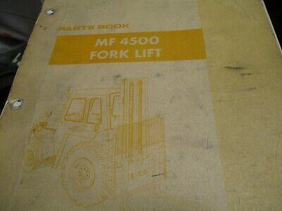 Massey Ferguson Mf 4500 Fork Lift Parts Book Manual