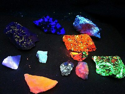 CLEARANCE! 1 Lb Fluorescent mineral rock crystal Franklin & More box