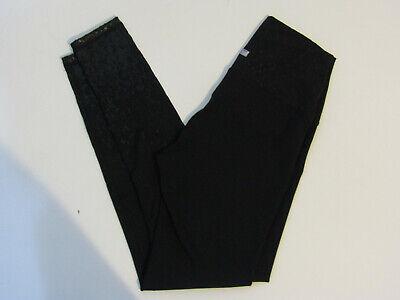 Z by Zobha Womens Leggings Pants High Waist Black Ombre Shine Size M Medium NWT