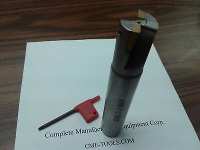 1 90 Degree Indexable End Mill 1x1x6 W. Apkt Inserts 506-apkt-100-new