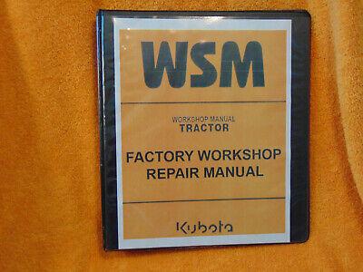 Kubota G1700 G1800 G1900 G2000 Riding Mower Tractor Workshop Manual Binder