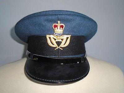 RAF MANS WARRANT OFFICER CAP WITH BADGE SIZE 57CM GENUINE RAF ISSUE