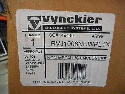 Vynckier Rvj1008nhwpl1x Non-metallic Enclosure