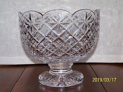 WATERFORD CRYSTAL FOOTED CENTERPIECE TRIFLE BOWL 9