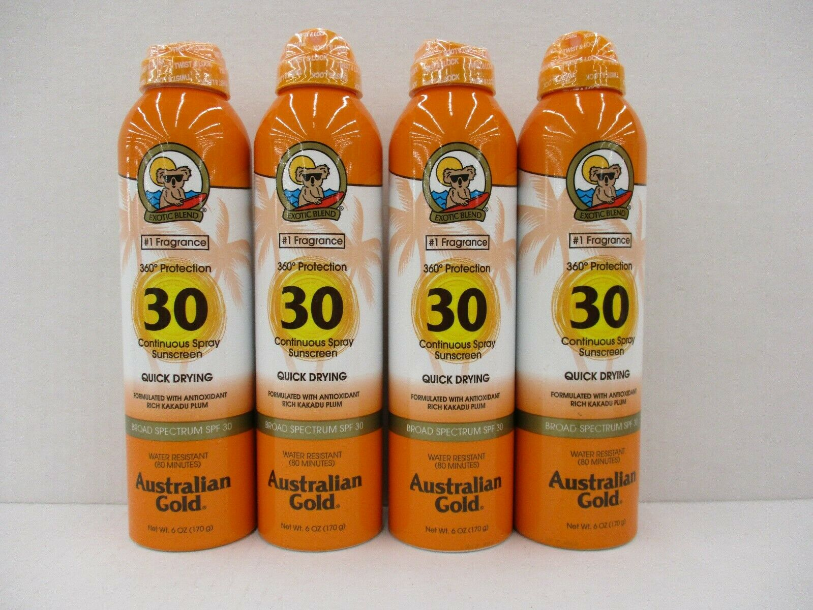 Australian Gold Continuous Spray Sunscreen, Dries Fast, Broa