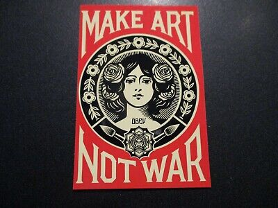 "SHEPARD FAIREY Obey Giant Sticker wht 4/"" AMPLIFY YOUR VOICE from poster print"