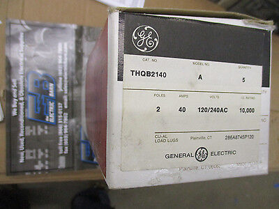 Ge Thqb2140 40 Amp 2 Pole 240 Volt Circuit Breaker- New