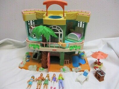 Vtg Fisher Price Sweet Streets Beach House 75118 74847 Mattel 2000 Accessories