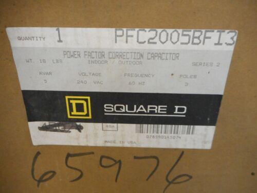 SQUARE D PFC2005BFI3 POWER FACTOR CORRECTION CAPACITOR 5 KVAR 240V 3 POLE