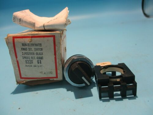 NEW EATON/CUTLER-HAMMER E22X61 2 POSITION SELECTOR SWITCH
